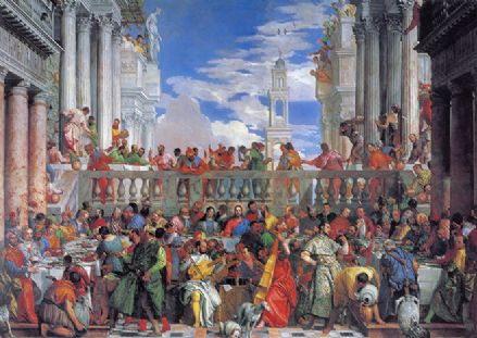 Veronese, Paolo Caliari: The Marriage Feast at Cana. Fine Art Print/Poster. Sizes: A4/A3/A2/A1 (002016)